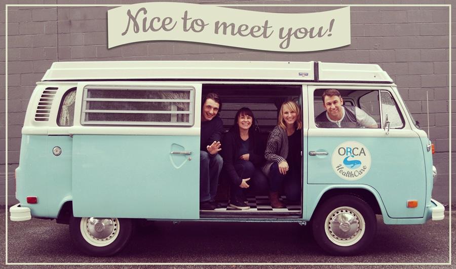 ORCA HealthCare Team Postcard