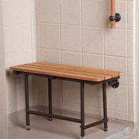 Best Bath Systems - 32x16 Teak Seat With ORB Hardware
