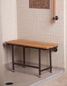 Best Bath Systems - 32x16 Teak Seat With ORB Hardware