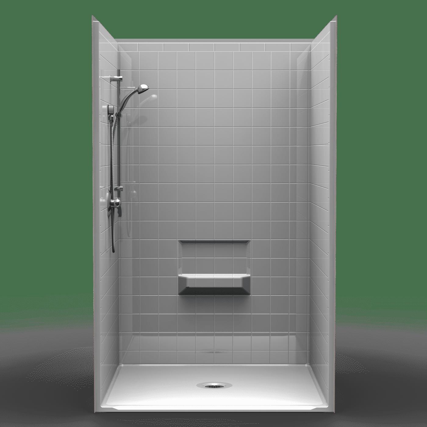 4lrs4848b1b Four Piece 48 X 48 Roll In Shower 1