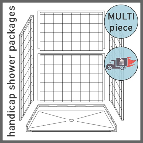 Multi-piece Handicap Shower Packages