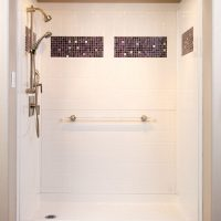 "Designer handicapped bathroom showers, 60"" x 30"" roll-in"
