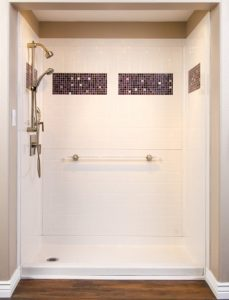 Designer handicapped bathroom shower