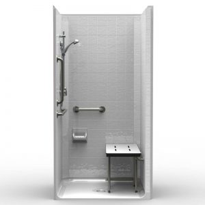 ADA transfer shower with walk-in shower accessories LCS4038A5T