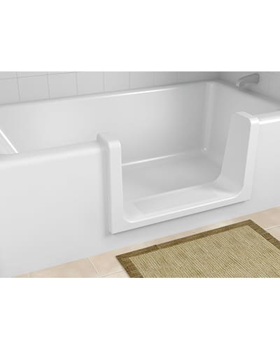 Orca ultra low convert your tub into a walk in shower for Low profile bath tubs
