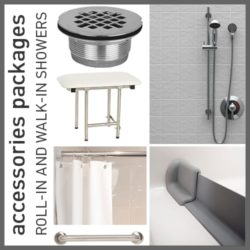 Accessories Packages for Roll-in and Walk-in Showers