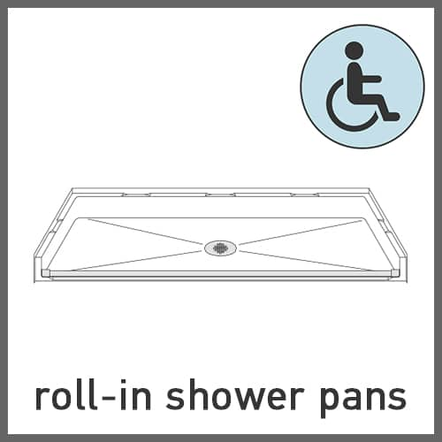 Roll-in Shower Pans