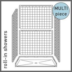 Multi-Piece Roll-in Showers