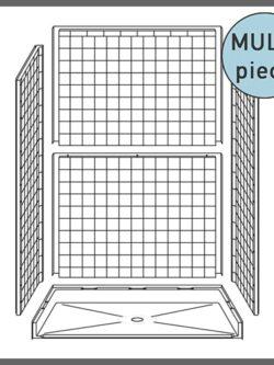 Multi-Piece Roll-in Showers