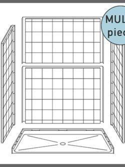 Multi-Piece ADA Showers