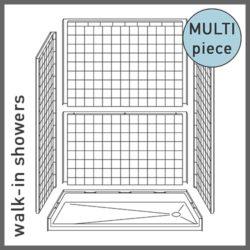 Multi-Piece Walk-in Showers