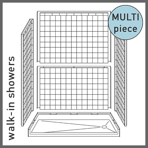 Multi-Piece Walk-in Showers