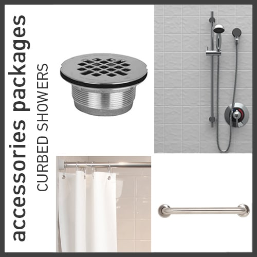 Accessories Packages for Curbed Showers