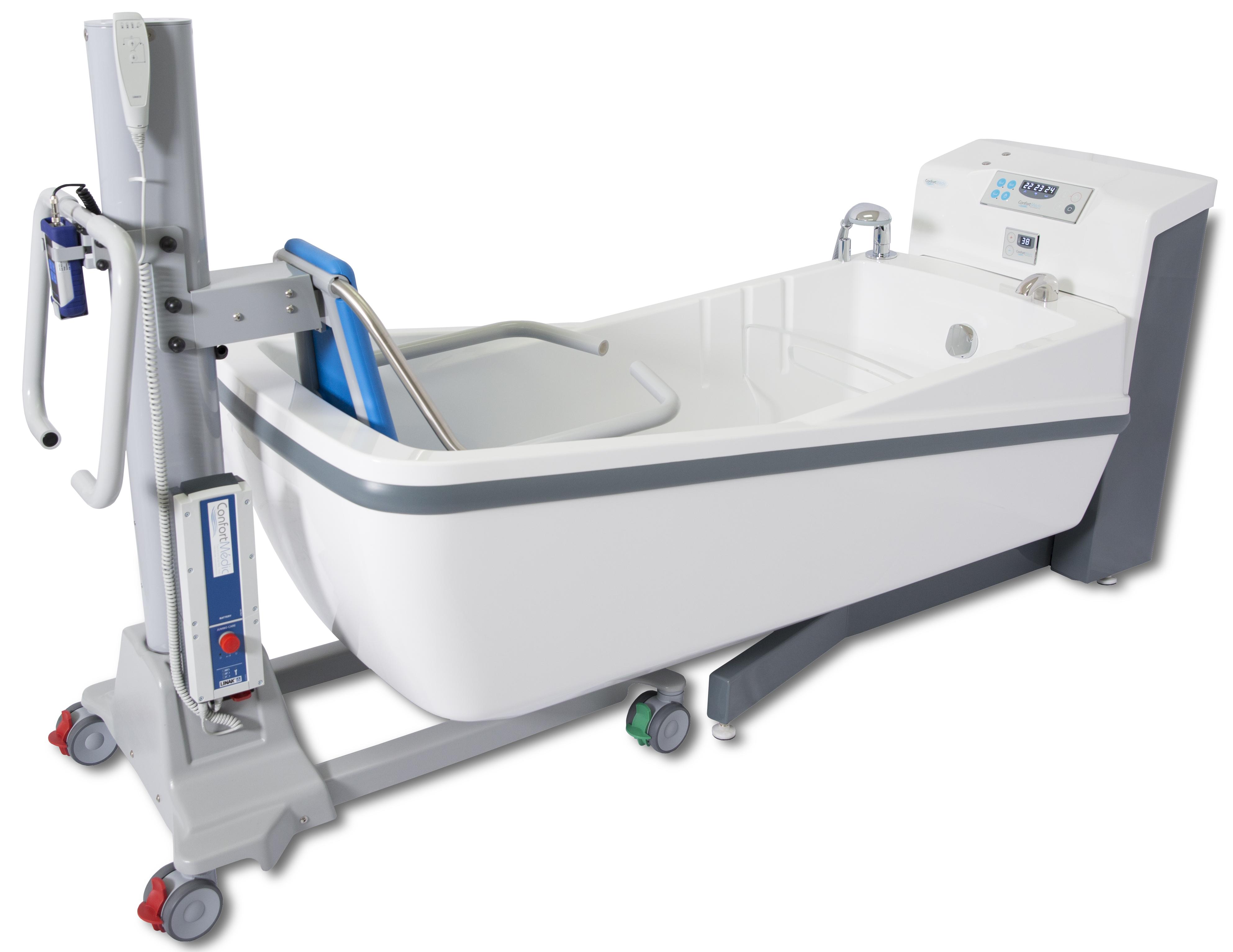 chinesport rehab trolley base ht single undefined and basic tilting showertrolley head h shower section l hygene bathroom with