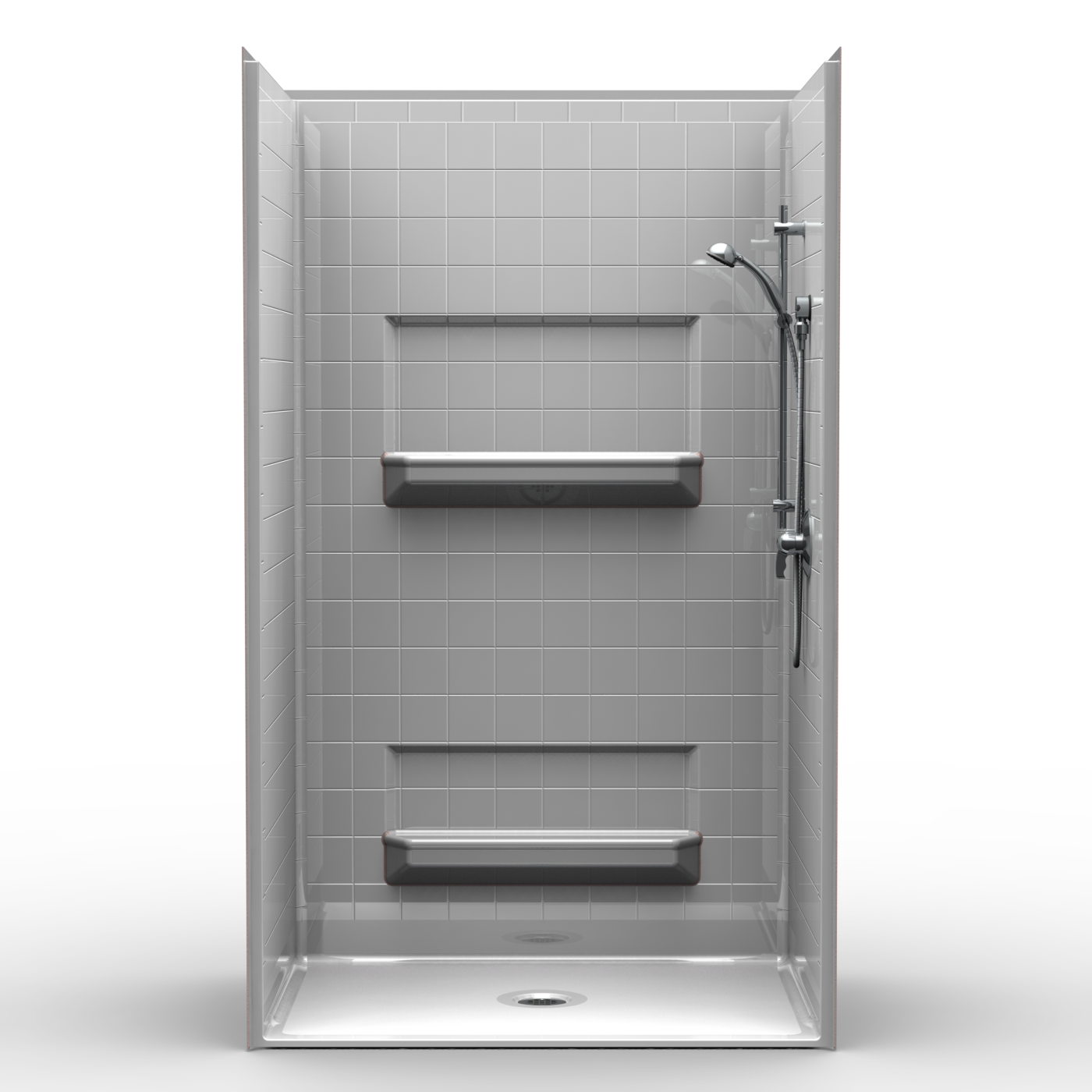 Salle De Bain Jaune Et Grise ~ A Fully Installed 48 Inch Shower Stall Without The Wait Orca