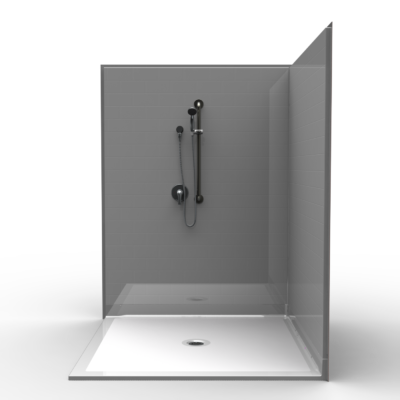 "60"" x 60"" Corner Roll in Shower"