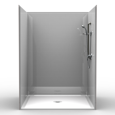 "60"" x 60"" Roll in Shower"